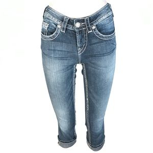 Silver aiko Capri Jeans 25x24
